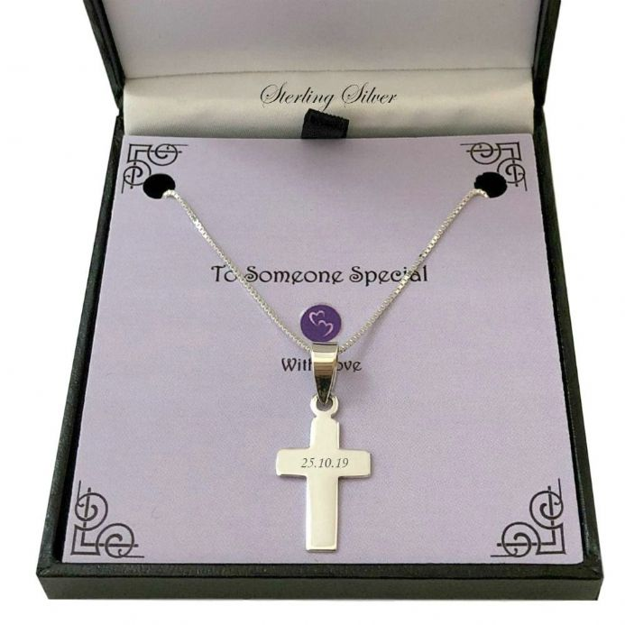 Sterling Silver Cross with Engraving for Man or Boy | Heavens Blessings